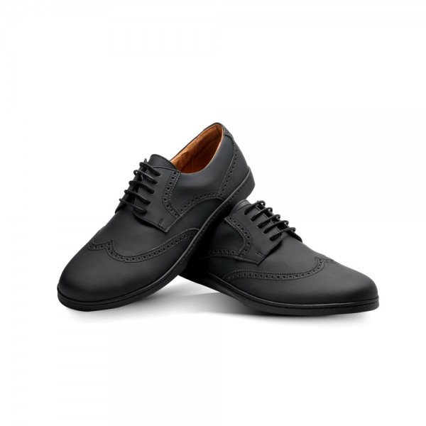 BRIQ Brogue Vegan Black